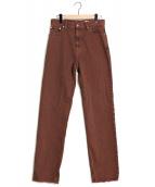 PERVERZE(パーバーズ)の古着「Heavy Wide Color Denim」|ブラウン
