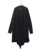 B Yohji Yamamoto(ビー ヨウジヤマモト)の古着「ロングカーディガン」|ブラック