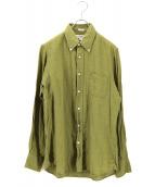 INDIVIDUALIZED SHIRTS(インディビジュアライズドシャツ)の古着「リネンシャツ」|オリーブ