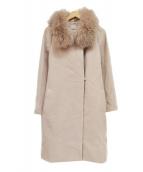 Apuweiser-riche(アプワイザーリッシェ)の古着「衿ファー4wayコート」 ベージュ