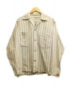 STEVEN ALAN(スティーヴンアラン)の古着「オープンカラーシャツ」 グレー×レッド