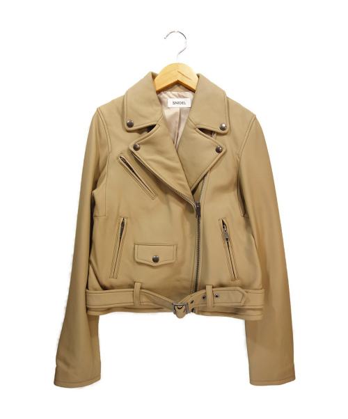 Snidel(スナイデル)Snidel (スナイデル) ライダースジャケット ベージュ サイズ:1 SWFJ194142の古着・服飾アイテム