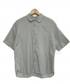 STILL BY HAND(スティルバイハンド)の古着「ローン半袖シャツ」|スカイブルー