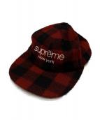 Supreme(シュプリーム)の古着「BUFFALO PLAID CLASSIC CAP」 レッド×ブラック