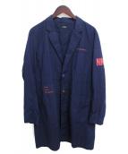 UNDERCOVERISM(アンダーカバイズム)の古着「ブロードパッチエンジニアコート」|ネイビー