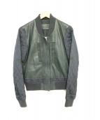 ALL SAINTS(オールセインツ)の古着「レザーボンバージャケット」|ブラック
