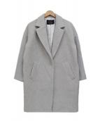JUSGLITTY(ジャスグリッティー)の古着「アンゴラ混 コクーンチェスターコート」 グレー