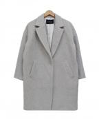 JUSGLITTY(ジャスグリッティー)の古着「アンゴラ混 コクーンチェスターコート」|グレー