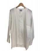 FACTOTUM(ファクトタム)の古着「カラーレスロングシャツ」|ホワイト
