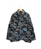 HARE(ハレ)の古着「ボアブルゾン」|ブルー×ブラック
