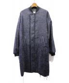 Maison Margiela(メゾンマルジェラ)の古着「ロングMA-1ジャケット」|ネイビー