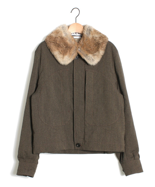 LOEWE(ロエベ)LOEWE (ロエベ) ラビットファージャケット カーキ サイズ:44の古着・服飾アイテム