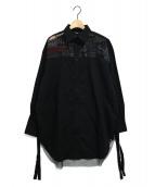 DIESEL(ディーゼル)の古着「ドッキングオーバーシャツ」|ブラック
