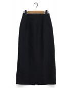 CELFORD(セルフォード)の古着「シルクウールスカート」|ネイビー