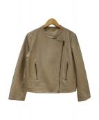 12closet(トゥエルブクローゼット)の古着「ソフトラムレザージャケット」|ベージュ