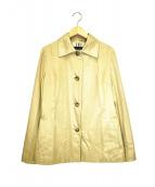 BURBERRY LONDON(バーバリーロンドン)の古着「シルク混シングルコート」|ベージュ