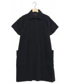 Y's(ワイズ)の古着「ダブルカラーワンピース」|ブラック