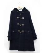 Black Fleece(ブラックフリース)の古着「ロングダッフルコート」|ネイビー