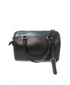 agnes b voyage(アニエスベーボヤージュ)の古着「レザー2WAYボストンバッグ」|ブラック
