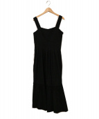 JILL STUART(ジルスチュアート)の古着「ココプリーツジャンパースカート」|ブラック