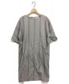 fabiana filippi(ファビアーナ フィリッピ)の古着「ストライプワンピース」|グレー