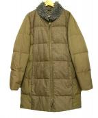fabiana filippi(ファビアーナ フィリッピ)の古着「異素材ダウンコート」|モカ