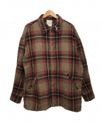 REMI RELIEF(レミレリーフ)の古着「シャツジャケット」|レッド×ブラウン