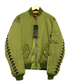 G.V.G.V(ジーヴイジーヴイ)の古着「レースアップジャケット」 オリーブ