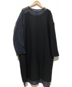 ENFOLD(エンフォルド)の古着「アシンメトリードレス」 ネイビー
