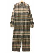 H BEAUTY&YOUTH(エイチ ビューティアンドユース)の古着「マドラスチェックオールインワン」|グレー