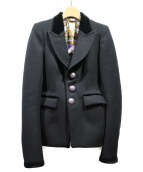 BALENCIAGA(バレンシアガ)の古着「ウールテーラードジャケット」|ブラック