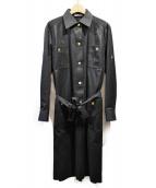 CELINE(セリーヌ)の古着「ヴィンテージシャツワンピース」|ブラック