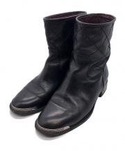 CHANEL(シャネル)の古着「ショートブーツ」|ブラック