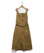 LE CIEL BLEU(ルシェルブルー)の古着「サスペンダーラインチノドレス」|ベージュ