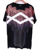 ()の古着「プリントTシャツ」 ブラック×ベージュ