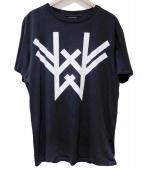 MARCELO BURLON(マルセロバーロン)の古着「プリントTシャツ」|ブラック×ホワイト