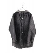 EVISU(エビス)の古着「総柄マウンテンパーカー」|ブラック