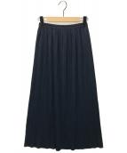 PLEATS PLEASE(プリーツプリーズ)の古着「ロングスカート」|ネイビー