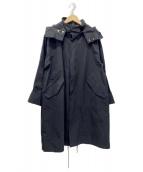 Spick and Span(スピックアンドスパン)の古着「グログランフーディーコクーンコート」|ブラック