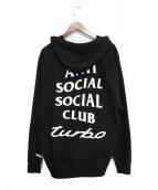 ANTI SOCIAL SOCIAL CLUB(アンチソーシャルソーシャルクラブ)の古着「ASSC TURBO / CE-HOODED LS」|ブラック