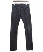 Dior Homme(ディオールオム)の古着「デニムパンツ」|ブラック