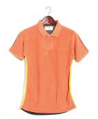 COMME des GARCONS SHIRT(コムデギャルソンシャツ)の古着「切替ポロシャツ」|オレンジ