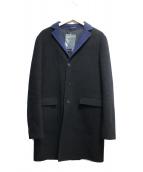 JIL SANDER(ジルサンダー)の古着「Wフェイスメルトンチェスターコート」|ネイビー