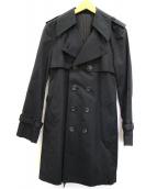 LOUNGE LIZARD(ラウンジリザード)の古着「トレンチコート」|ブラック