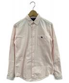BURBERRY BLACK LABEL(バーバリーブラックレーベル)の古着「ボタンダウンシャツ」|ピンク