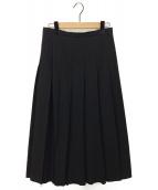 Y's(ワイズ)の古着「ウールギャバBOXプリーツスカート」|ブラック