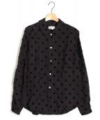 robe de chambre COMME des GARCONS(ローブドシャンブルコムデギャルソン)の古着「フロッキースクエアドットシャツ」|ブラック