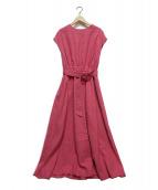 mite(ミテ)の古着「linen maxi dress」|ピンク