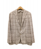 TAGLIATORE(タリアトーレ)の古着「リネン混テーラードジャケット」|ブラウン