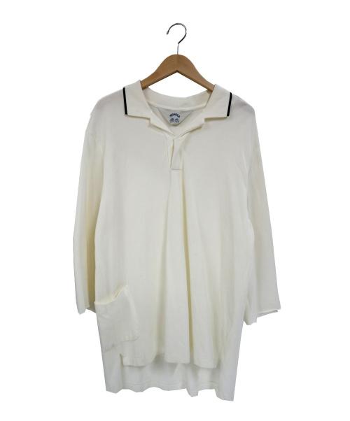 SUNSEA(サンシー)SUNSEA (サンシー) ビッグポロシャツ ベージュ サイズ:L 18S18 BIG POLO SHIRTの古着・服飾アイテム